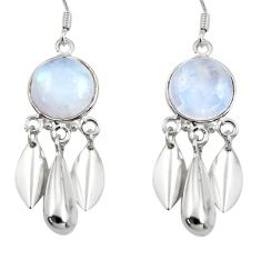 11.44cts natural rainbow moonstone 925 sterling silver dangle earrings d45746