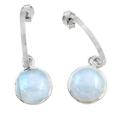 10.31cts natural rainbow moonstone 925 sterling silver dangle earrings d45755