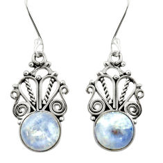 10.32cts natural rainbow moonstone 925 sterling silver dangle earrings d47579
