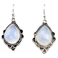 12.64cts natural rainbow moonstone 925 sterling silver dangle earrings r21502