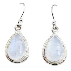 8.75cts natural rainbow moonstone 925 sterling silver dangle earrings r25085