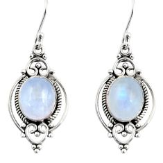 8.73cts natural rainbow moonstone 925 sterling silver dangle earrings r30971