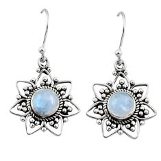 2.78cts natural rainbow moonstone 925 sterling silver dangle earrings r31166