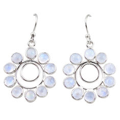10.05cts natural rainbow moonstone 925 sterling silver dangle earrings r35574