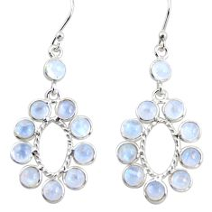 10.65cts natural rainbow moonstone 925 sterling silver dangle earrings r35598