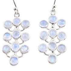 9.72cts natural rainbow moonstone 925 sterling silver dangle earrings r35816