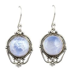 8.17cts natural rainbow moonstone 925 sterling silver dangle earrings r42340