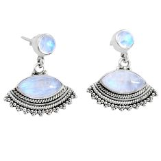 10.02cts natural rainbow moonstone 925 sterling silver dangle earrings r66591