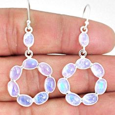 10.70cts natural rainbow moonstone 925 sterling silver dangle earrings r69299