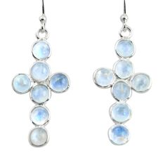 6.83cts natural rainbow moonstone 925 sterling silver earrings jewelry r45129