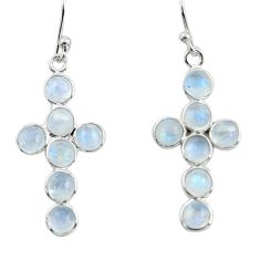 6.69cts natural rainbow moonstone 925 sterling silver earrings jewelry r45131