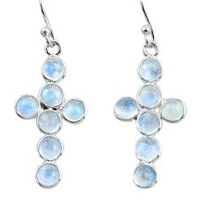 6.64cts natural rainbow moonstone 925 sterling silver earrings jewelry r45132