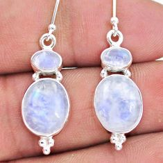 12.05cts natural rainbow moonstone 925 sterling silver earrings jewelry t19507