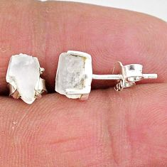 4.34cts natural rainbow moonstone 925 sterling silver earrings jewelry t7500