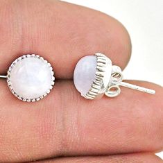 5.76cts natural rainbow moonstone 925 sterling silver stud earrings t43759