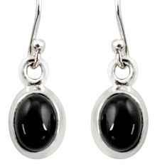 3.98cts natural rainbow obsidian eye 925 sterling silver dangle earrings r41101