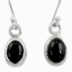 3.60cts natural rainbow obsidian eye 925 sterling silver dangle earrings r41103