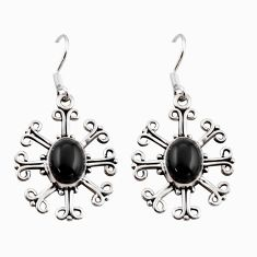 4.22cts natural rainbow obsidian eye 925 sterling silver dangle earrings r41163