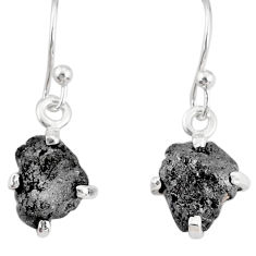 3.42cts natural raw diamond rough 925 sterling silver handmade earrings r79322