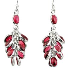 24.61cts natural red garnet 925 sterling silver chandelier earrings d47548