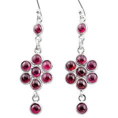 7.97cts natural red garnet 925 sterling silver chandelier earrings jewelry t4744