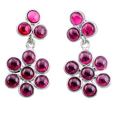 8.56cts natural red garnet 925 sterling silver chandelier earrings jewelry t4781