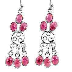 11.17cts natural red garnet 925 sterling silver chandelier earrings r37432