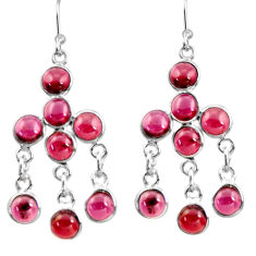 12.07cts natural red garnet 925 sterling silver chandelier earrings r37435