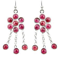 10.65cts natural red garnet 925 sterling silver chandelier earrings r38519