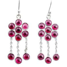 8.91cts natural red garnet 925 sterling silver chandelier earrings t12361