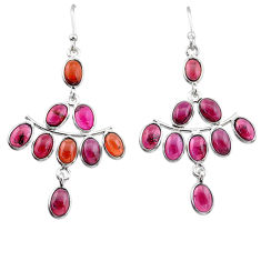 16.04cts natural red garnet 925 sterling silver chandelier earrings t1825