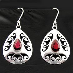 5.53cts natural red garnet 925 sterling silver dangle earrings jewelry d40025