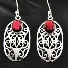 6.54cts natural red garnet 925 sterling silver dangle earrings jewelry d40032