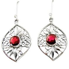 5.30cts natural red garnet 925 sterling silver dangle earrings jewelry d40094