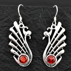 Clearance Sale- 1.81cts natural red garnet 925 sterling silver dangle earrings jewelry d40605