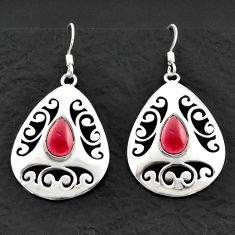 4.71cts natural red garnet 925 sterling silver dangle earrings jewelry d40614