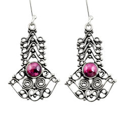 2.84cts natural red garnet 925 sterling silver dangle earrings jewelry d41143