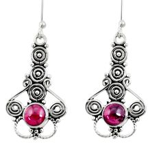2.34cts natural red garnet 925 sterling silver dangle earrings jewelry d41156