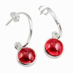 8.87cts natural red garnet 925 sterling silver dangle earrings jewelry d45800