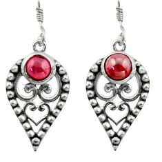 2.63cts natural red garnet 925 sterling silver dangle earrings jewelry d46801