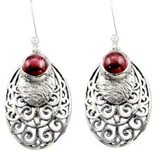 2.36cts natural red garnet 925 sterling silver dangle earrings jewelry d46891