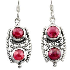 6.80cts natural red garnet 925 sterling silver dangle earrings jewelry d46983