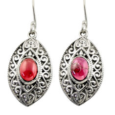 4.21cts natural red garnet 925 sterling silver dangle earrings jewelry d47061