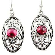 3.31cts natural red garnet 925 sterling silver dangle earrings jewelry d47086