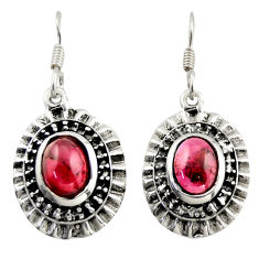 4.71cts natural red garnet 925 sterling silver dangle earrings jewelry d47126