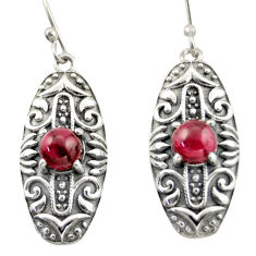 2.17cts natural red garnet 925 sterling silver dangle earrings jewelry d47150