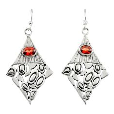 3.10cts natural red garnet 925 sterling silver dangle earrings jewelry d47164