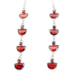 11.99cts natural red garnet 925 sterling silver dangle earrings jewelry r19945