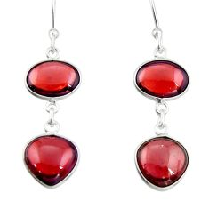 10.89cts natural red garnet 925 sterling silver dangle earrings jewelry r19961