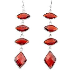 11.26cts natural red garnet 925 sterling silver dangle earrings jewelry r19970